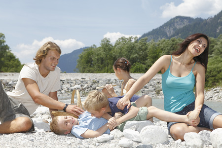 Free Time by the River in the Mountains LANG_EVOIMAGES