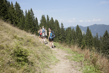 pursued: A group hike through the mountains