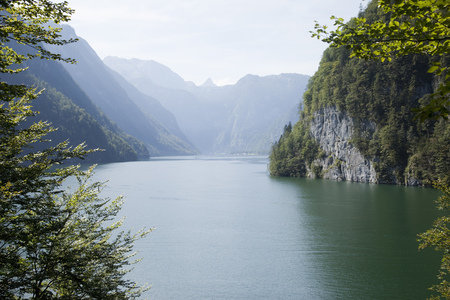 remoteness: View at the Konigssee from Malerwinkel
