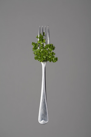 Fork with parsley