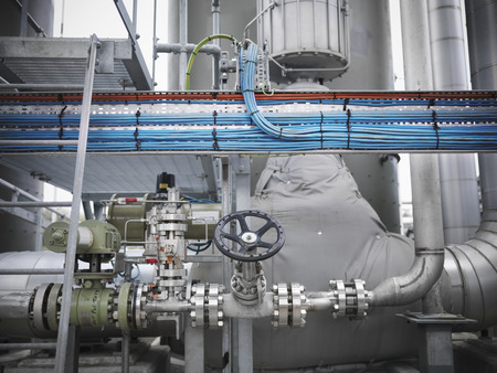 joining forces: Valves and pipes at gas storage plant