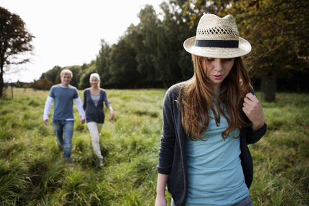 truelove: Young persons walking in nature
