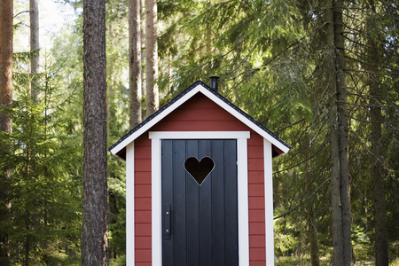 outhouse: Outhouse in forest