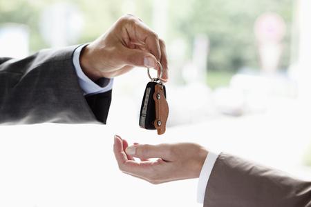 Handing over key