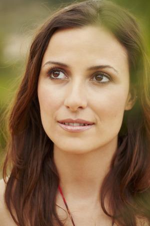 interrogations: Portrait of pensive woman