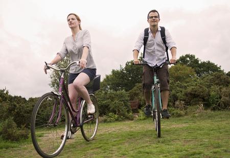 truelove: Couple bicycle over heath