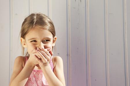 giggling: Little Girl giggling