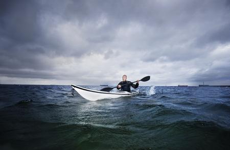 forbid: Man in kayak