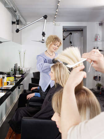grooming: Hairdressers at work in salon