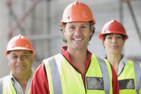 Architect and building worker
