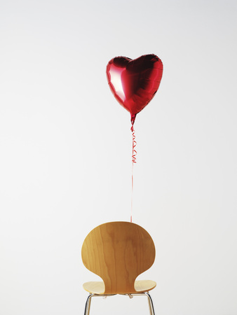 office chair and love heart balloon stock photo picture and royalty rh 123rf com Egg Chair office chair ballymoney