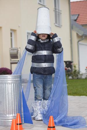 dressups: Boy hiding in rocket