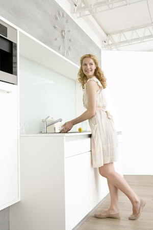 revolved: Woman doing dishes