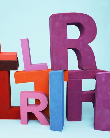 oversize: Multi-colored oversize letters
