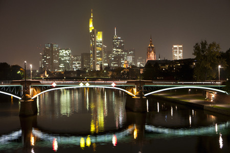 intersects: Frankfurt city skyline by night LANG_EVOIMAGES