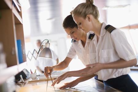 profile measurement: Sailors setting the compasses