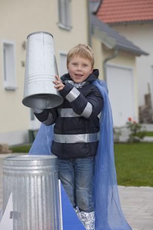 dressups: Boy constructing rocket