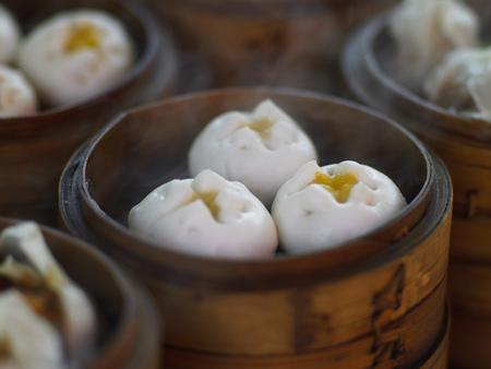 regionally: Close up of steamed dumplings LANG_EVOIMAGES