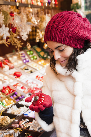browses: Woman at xmas market