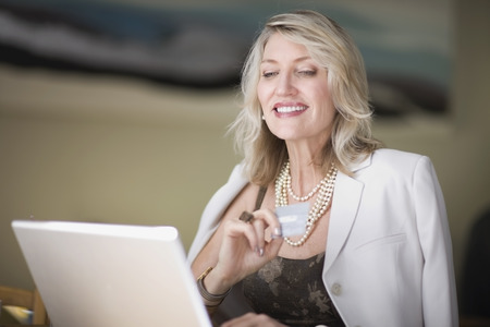 Businesswoman shopping on the internet LANG_EVOIMAGES