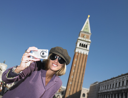 zeal: Woman in Venice,taking pictures