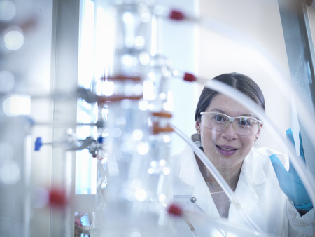 assessed: Scientist with equipment in laboratory
