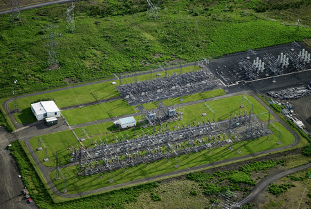 Aerial view of power grid