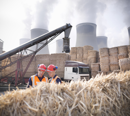 18 wheeler: Workers in biomass fuel facility