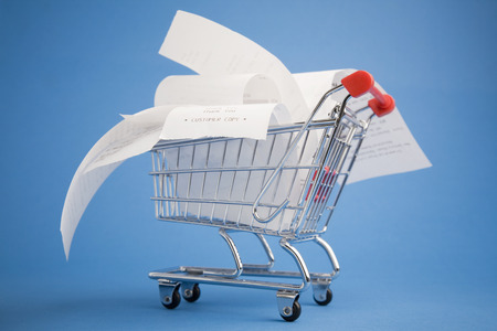 Receipts in shopping cart