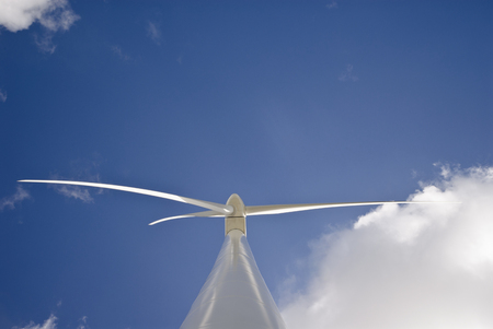Low angle view of wind turbine LANG_EVOIMAGES