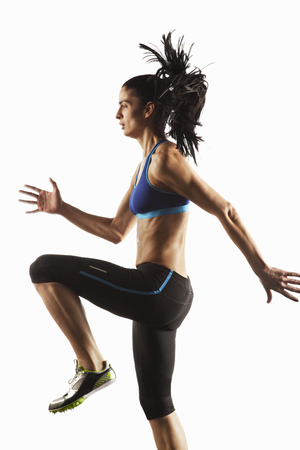 Athlete running in place LANG_EVOIMAGES