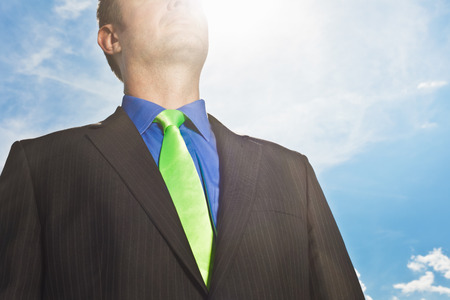 warming up: Close up of businessman's suit