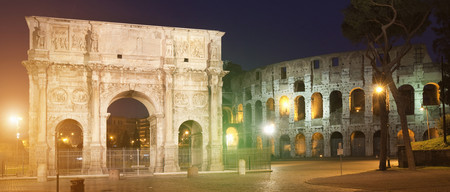 histories: Colosseum and Arch of Constantine