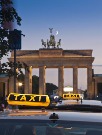 tributos: Close up of taxi signs on cabs
