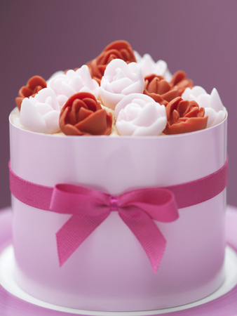 tempted: Close up of decorated cake