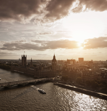 histories: Aerial view of Westminster in London