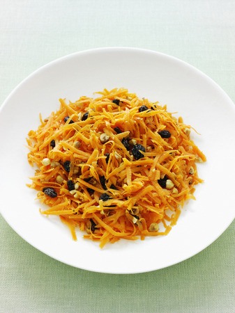 bodegones: Bowl of grated carrot salad