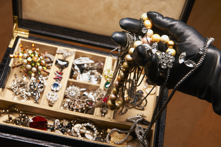 swindled: Gloved hand stealing jewelry