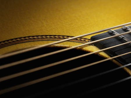 pubescent: Close up of guitar string