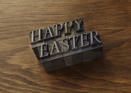 faiths: Lead type spelling Happy Easter