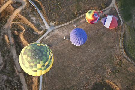 castilla: Aerial view of hot air balloons  LANG_EVOIMAGES