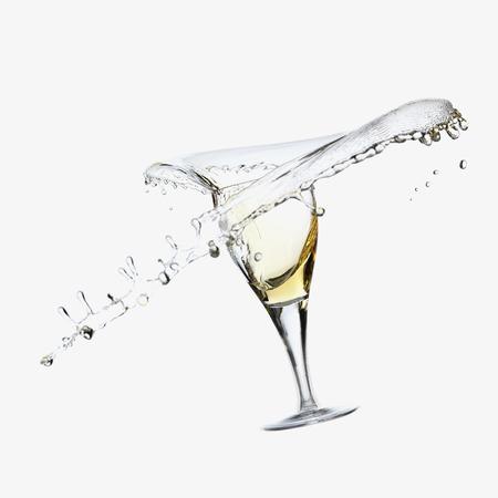 overflows: Wine splashing from glass