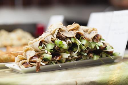 Plate of Peking duck rolls LANG_EVOIMAGES