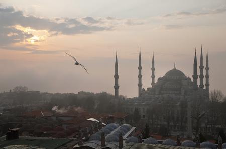 histories: Blue Mosque at dawn, Istanbul, Turkey