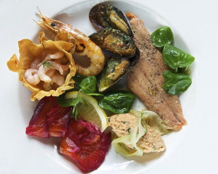 coldblooded: Plate of smoked seafood LANG_EVOIMAGES