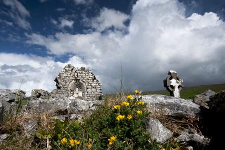 Stone ruins in rural landscape LANG_EVOIMAGES