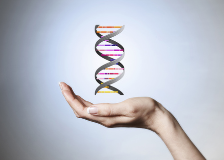 identifiers: Hand holding strain of DNA