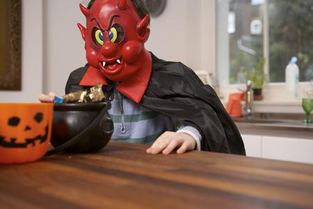 dressups: Boy wearing Halloween costume LANG_EVOIMAGES