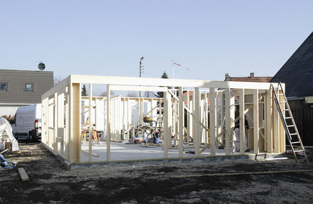abodes: New structure on construction site