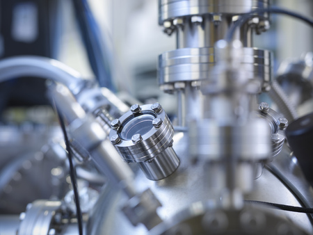 viewport: Close up of vacuum chamber in lab